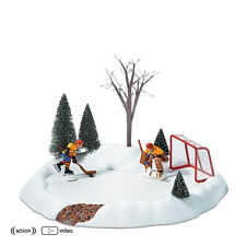 Dept 56 ANIMATED HOCKEY PRACTICE  52512  NEW D56 Christmas Village Accessory