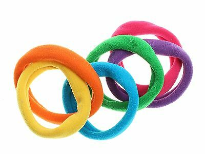 Pink//Yellow//Blue Snag Free Hair Bobbles Hair Accessories UK