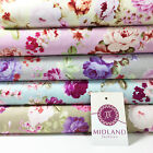 Vintage Floral Rose Shabby Chic Printed 100% Cotton Poplin Fabric 44
