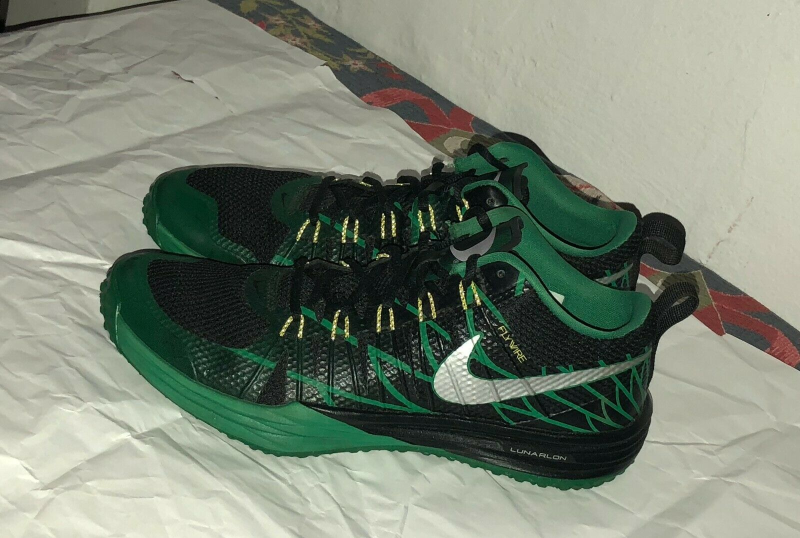 new concept 07b43 12595 Nike Lunar TR1 NRG NRG NRG Trainer Oregon Ducks Black Green Promo Tag Size  10.5 2391a8