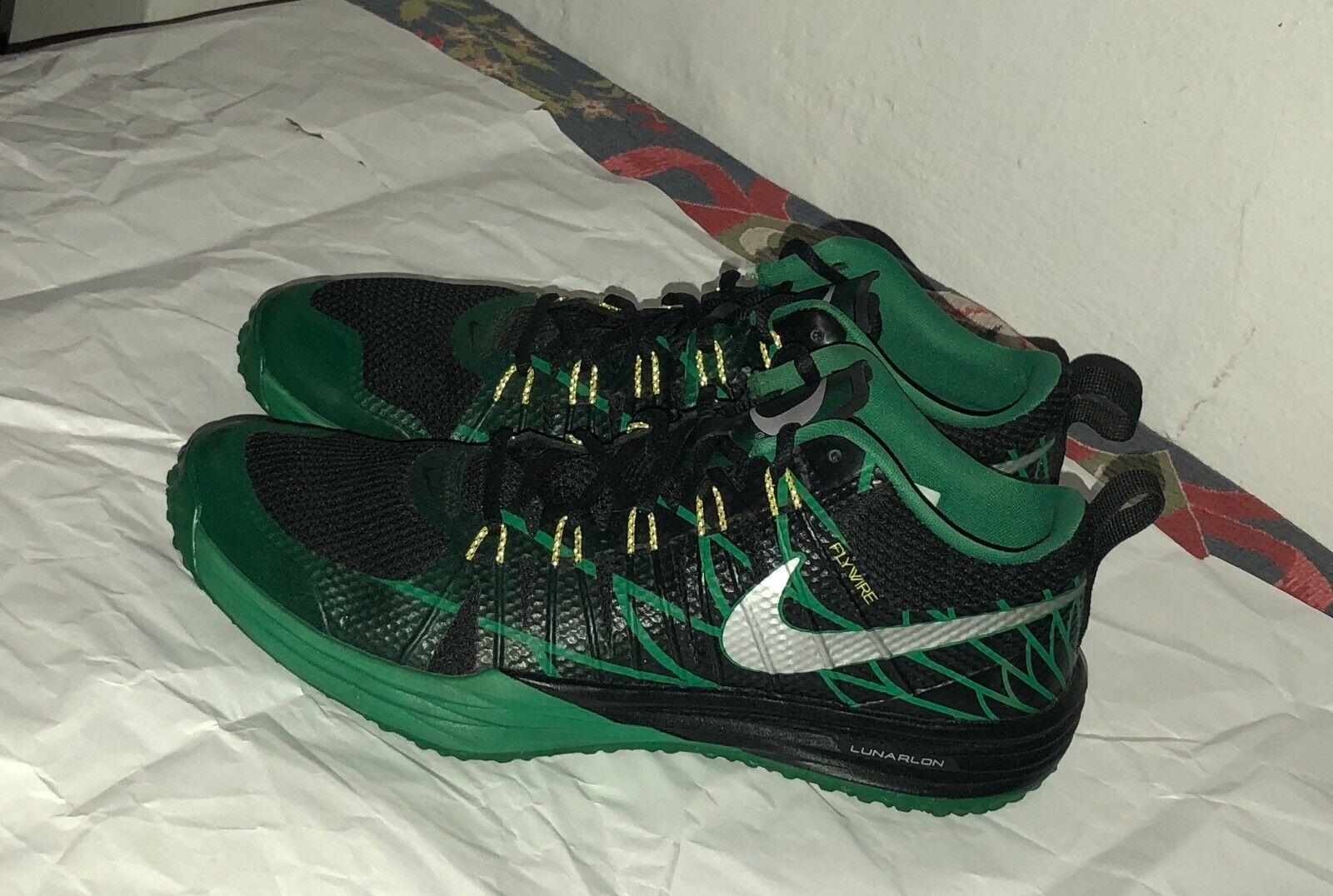 Nike Lunar TR1 NRG Trainer Oregon Ducks Black Green Promo Tag Size 10.5
