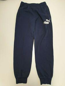 N460 Para Hombre Puma Azul Blanco Pantalones Deportivos M W32 34 Ebay
