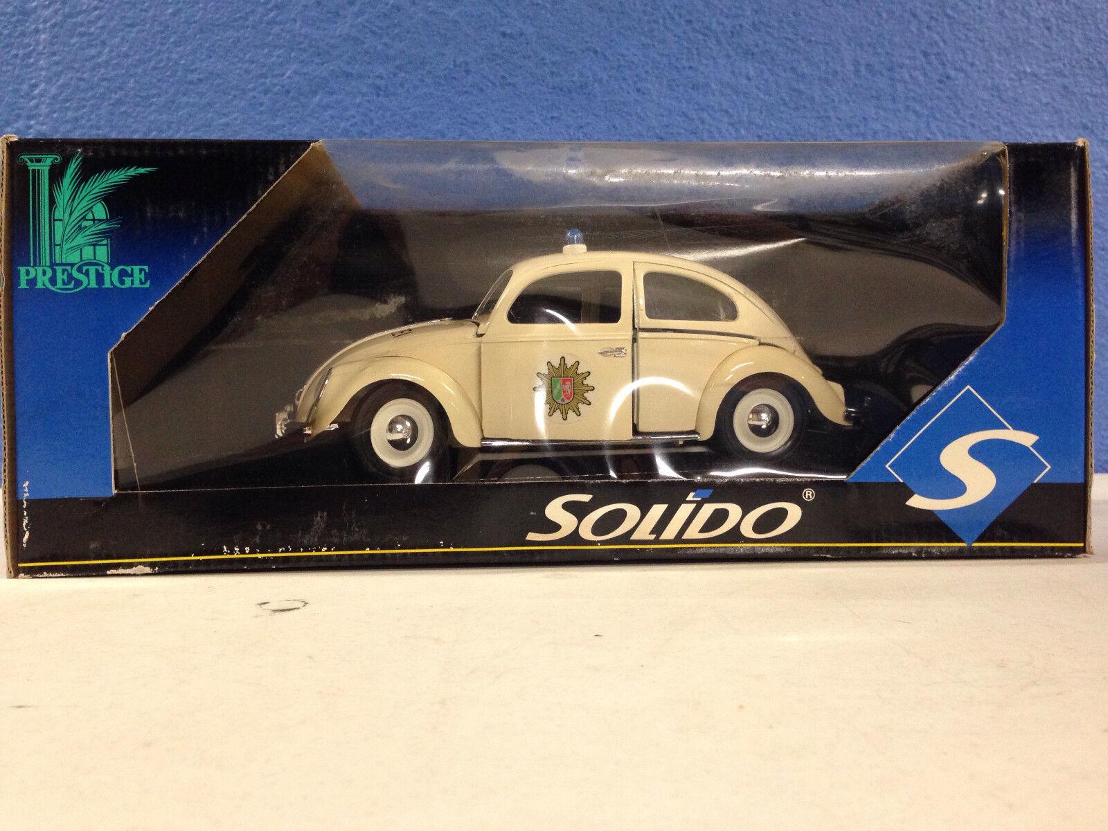 El Amor Bug biancao POLIZIA VW Beetle Bug 1 18 Diecast oficial de policía