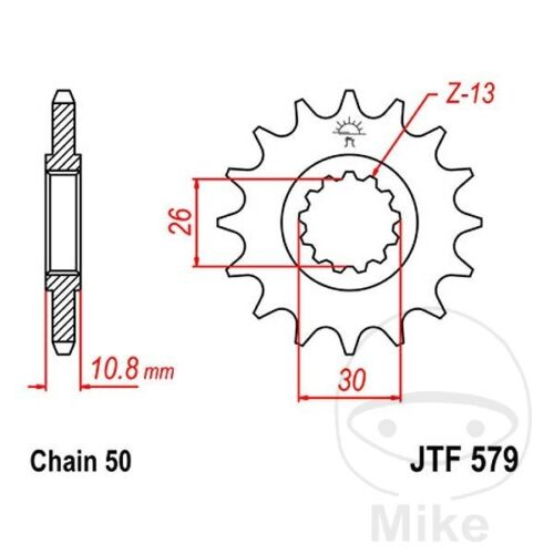 JT Front Sprocket 15T 530 Pitch Yamaha YZF-R1 1000 Anniversary 2012-2013
