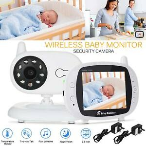 "3.5"" Wireless HD Video Baby Monitor 2.4GHz Night Vision Security Camera Viewer 7625639481001"