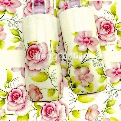 Water transfer Nail art polish stickers decals Decoration Tool flower design 384