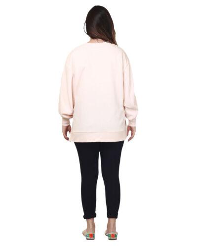 Da Donna Regno Unito Brand jaama Drop spalla oversize loose-fitting Felpa consente ritagliare Top
