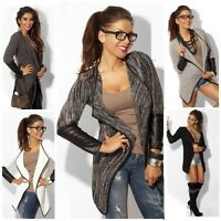 Damen Pullover Strickjacke Cardigan Strick Jacke Bolero Pulli Longshirt S,M,L