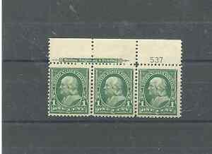 U.S.FRANKLIN SCOTT 279 VFNH STRIP OF THREE.