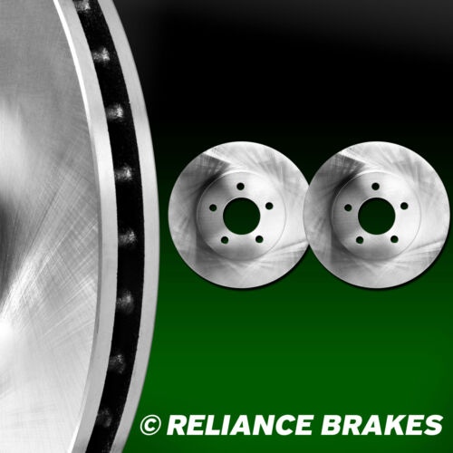 2 FRONTS Reliance *OE REPLACEMENT* Disc Brake Rotors F2863