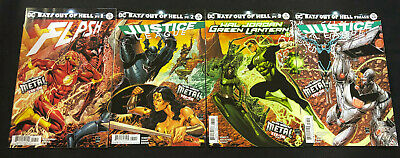 DC JUSTICE LEAGUE #32-33 DARK NIGHTS METAL Lot BATS OUT OF HELL NM Ships FREE!