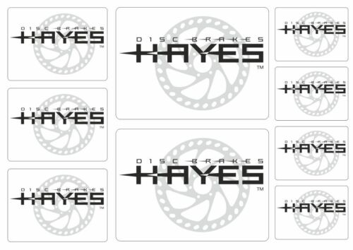 Hayes Disc Brakes Factory Decal Stickers Bicycle Frame Graphic Adhesive 9 Pcs
