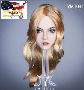 """1//6 Female Head Sculpt BLONDE Braided Hair For 12/"""" TBLeague PHICEN Figure USA"""