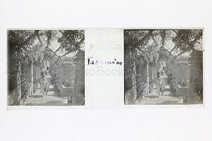 Taormina Sicilia Italia Placca Da Lente Stereo Positive Ca 1920