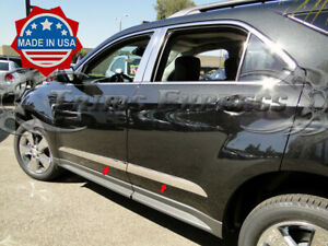 2010-2017-Chevy-Equinox-4Pc-Chrome-Body-Side-Molding-Trim-Stainless-Steel