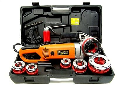 """2000W Portable Electric Pipe Threader 6 Dies Threading Machine 1/2"""" to 2"""" HD NEW"""