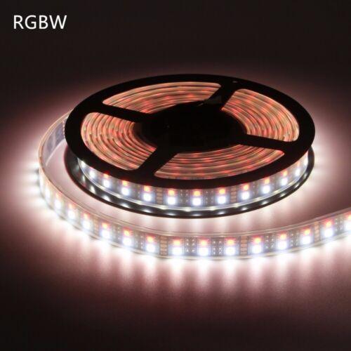 5M 600LED 120led//M Double Row 5050 RGBW RGB White Flex LED Strip light Black PCB