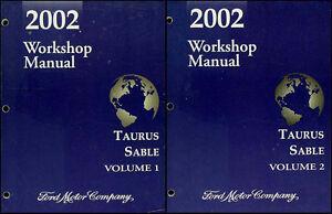 2002 taurus sable shop manual set original ford mercury service rh ebay com Crank Sensor 2003 Mercury Sable 2002 Mercury Sable Vacuum Diagram