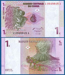 KONGO / CONGO 1 Centime 1997 UNC  P.80