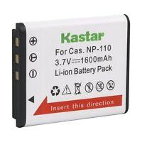 1x Kastar Battery For Casio Np-110 Np110 Exilim Ex-zr10 Ex-zr15 Ex-zr20