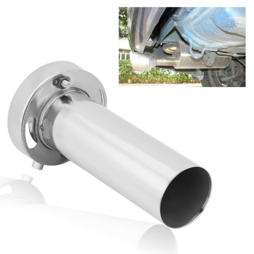 Universal Adjustable 4 inch Round Exhaust Muffler Tip Removable Sound Silencer