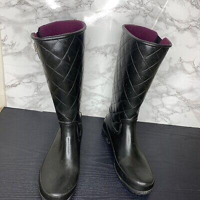 Sperry Womens Size 10 Black Tall Rain