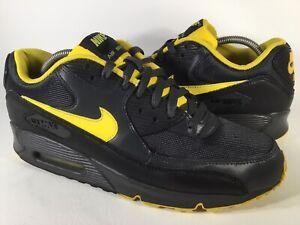 Nike-Air-Max-90-Black-Yellow-Grey-Mens-Size-10-Rare-325018-070-Running