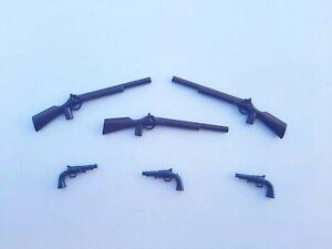 PLAYMOBIL 2 FUSILS POUR SOLDAT ET COWBOY//RIFLE GEWEHR GUN WINCHESTER #536