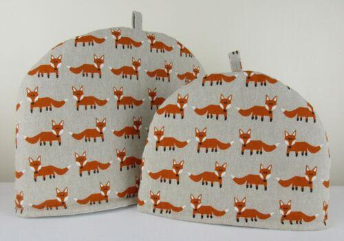 S/'adapte Tea-For-One CAFE TAILLE POTS Fabulous Fox Design Petit Tissu Tea Cosy confortable