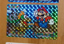 SUPER MARIO WORLD BANPRESTO CARDDASS CARD PRISM CARTE 6 NITENDO JAPAN 1993 **