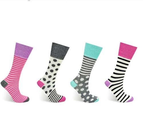 Ladies Non-Elastic Diabetic Diamond Knit Fashion Socks 4-7 2453