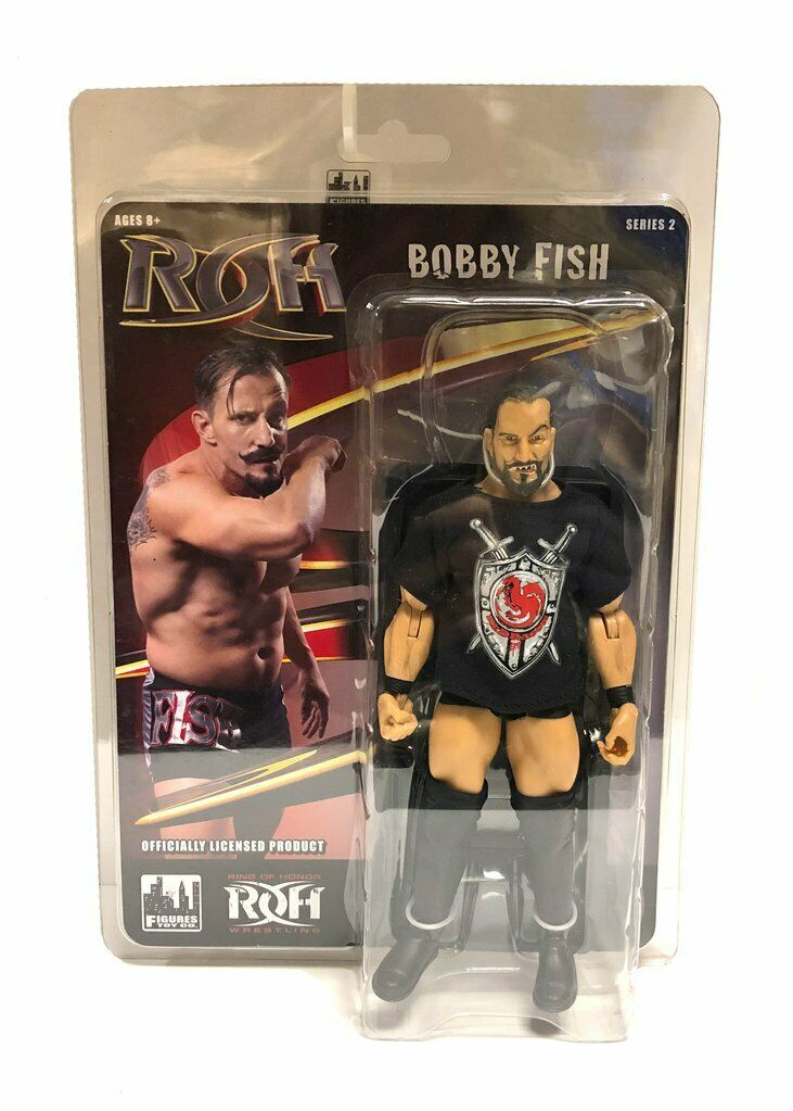 Official ROH - Ring Of Honor Series 2   Bobby FIsh of reDRagon Action Figure