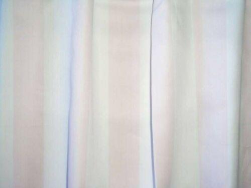 """NEW valance WHITE light PINK 1 1//4/"""" STRIPES custom"""