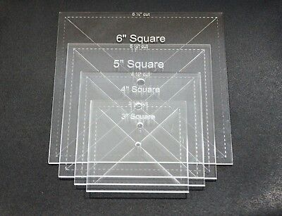 Choice of Size Acrylic Hexagon Quilt Template 4.75