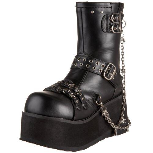Demonia CLASH-430 Women/'s Goth Punk Platform Calf Boots