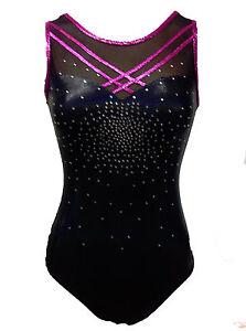 BLACK-GALAXY-Girls-Gymnastics-Leotards