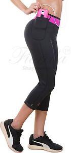 3b6dc87153 Neo Sweat Neoprene Sauna Capri Pants Sports Shapers Weight Loss Gym ...