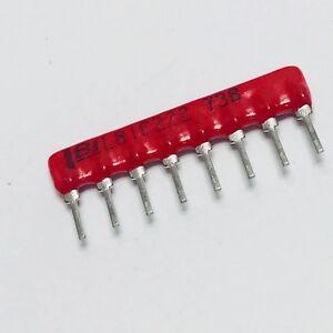 100pcs-L081C222-Resistor-Network-2-2K-Ohm-2-0-8W-8-Pin-SIP-Conform-Coated