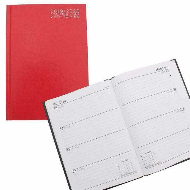 Brand New Hardback A5 Red 2020 Week to View Appointment Diary Stationery