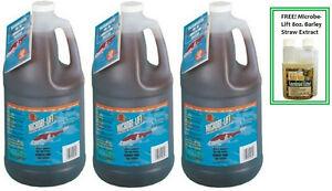 Microbe-Lift-PL-1-Gallon-Koi-Pond-Clarifier-x-3-amp-FREE-8oz-Barley-Straw-Extract