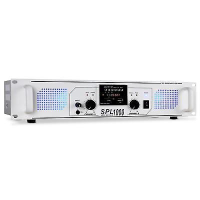 "SKYTEC SKYTEC SPL-1000 AMPLIFICADOR HIFI DJ SD USB MP3 APTO RACK 19"" -B-Stock"