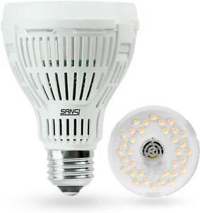 SANSI 15W=200W LED Grow Light Bulb Full Spectrum Indoor Seeding Tent Light COC