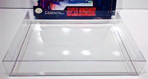 1-SNES-LETHAL-ENFORCERS-BIG-BOX-Protector-Super-Nintendo-Clear-Display-Case
