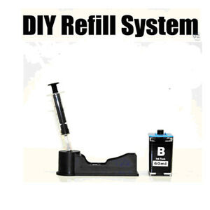 ink refill kit system for hp 364 xl 364xl blk cartridge ebay. Black Bedroom Furniture Sets. Home Design Ideas