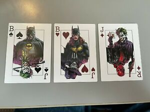 BATMAN THREE JOKERS PROMO PLAYING CARDS SET OF 3 BATMAN BATGIRL RED HOOD JOKER