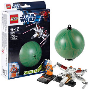 LEGO-Star-Wars-9677-X-Wing-Starfighter-Raumschiff-Pilot-Yavin-4-Planet-Kugel