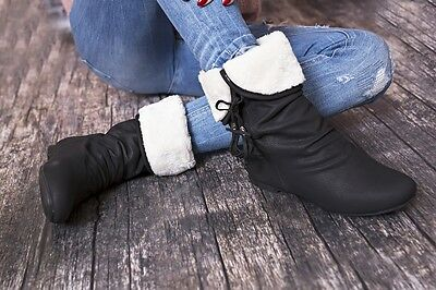 S-CHA Winterboots Stiefeletten Damenschuhe 36-41 Gefüttert khaki schwarz