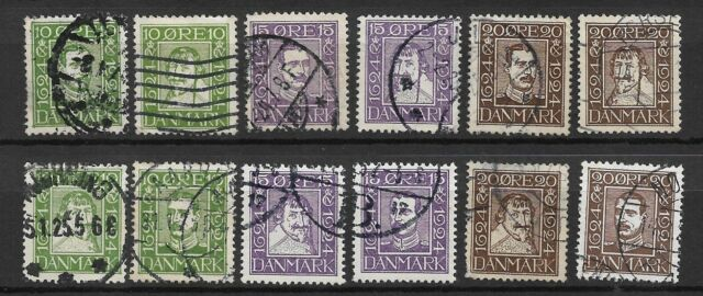 Denmark - 1924 Post anniversary complete set used