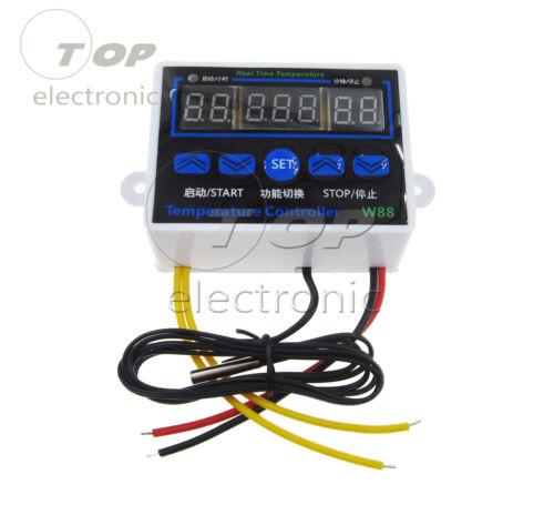 W88 12V//24V//220V LED Digital Temperature Controller Thermostat Control Switch