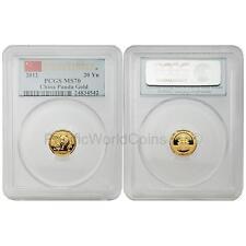 China 2012 Panda First Strike 1/20  oz Gold Coin PCGS MS70
